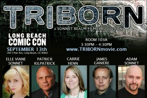 James Ganiere on Triborn Movie panel at Long Beach Comic Con 2015