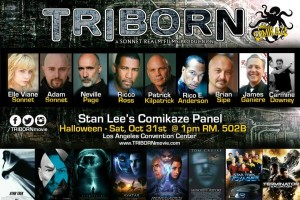 James Ganiere on Triborn Movie panel at Stan Lee's Comikaze Comic Con 2015